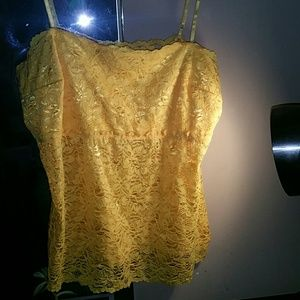 🐥Yellow mesh/lacy Cami🐥